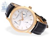 Wristwatch: very fine gentlemen's watch, Jaeger-LeCoultre Master Réserve de Marche, pink gold, original box and user guide/warranty booklet (NO LIVE FEE)
