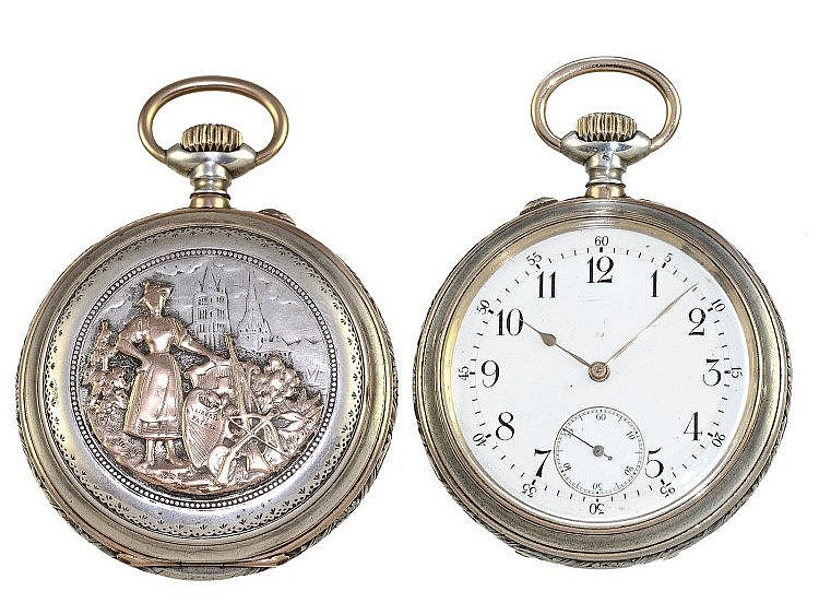 pocket watch rare and very fine marksman watch lausanne 18