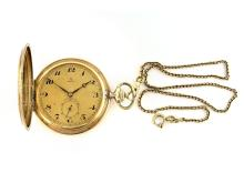 Pocketwatch by Omega, 14K gold, ca.1920