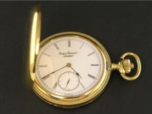 Taschenuhr: Savonnette in außergewöhnlicher Ausführung mit skelettiertem, verglastem Werk, Aero Watch Georges Crevoisier Neuchatel, 20.Jh.