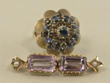 Ring/Brosche: antike Brosche sowie ein vintage Damenring