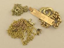 Konvolut Bruchgold aus 14K Gold/18K Gold