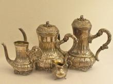 Kaffeeservice/Teeservice: vintage, massiv Silber