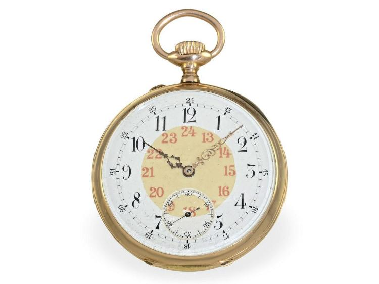 Pocket watch: Ankerchronometer Vacheron & Constantin Geneva, delivered to Bröcking, Chronometermaker of the German Naval Observatory Hamburg 1901 (NO LIVE FEE)
