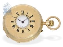 Pocket watch: early half hunting case watch, ca. 1880, Geneva Ankerchronometer (NO LIVE FEE)