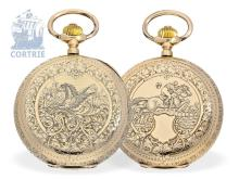 Pocket watch: splendid gold hunting case watch, Ankerchronometer, Switzerland ca. 1900 (NO LIVE FEE)