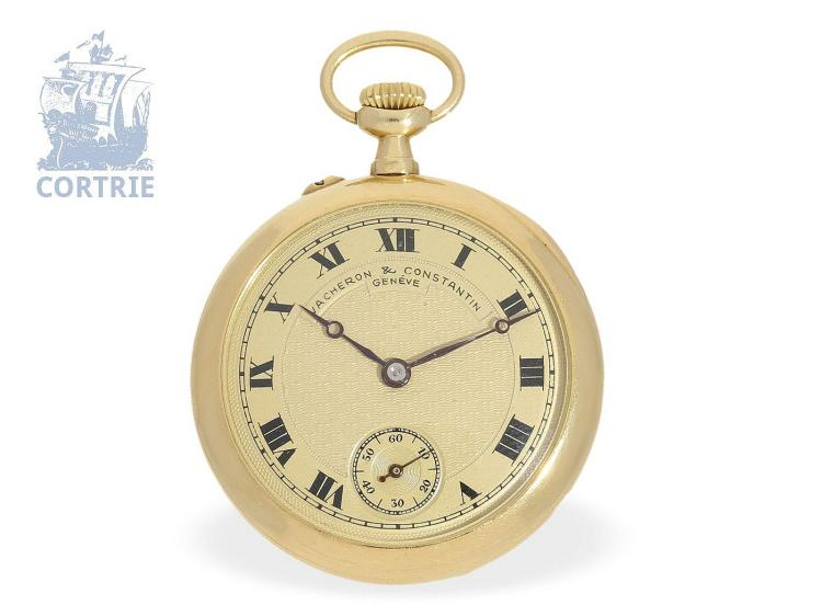 Pocket watch: very fine ladies pocket watch with precision lever movement, Vacheron & Constantin Geneve, ca. 1910 (NO LIVE FEE)