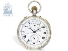 Pocket watch: very fine deck watch with split seconds chronograph, Stauffer & Co for Gibson & Co. Belfast, 1902 (NO LIVE FEE)