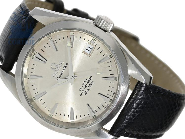 Wristwatch: automatic gentlemen's watch, Omega Seamaster Aqua Terra Co-Axial Chronometer, stainless steel (NO LIVE FEE)