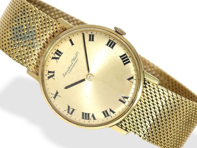 Wristwatch: vintage 18K gold gentlemen's watch, IWC Schaffhausen, 1968 (NO LIVE FEE)