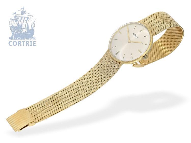Wristwatch: vintage gentlemen's watch, 18 K gold, Felca, very good condition (NO LIVE FEE)