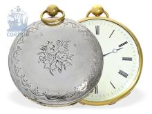 Pocket watch: rare coach clock, probably France for the English market, ca. 1820 (NO LIVE FEE)