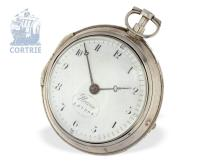 Pocket watch: big paircase verge watch, Eardley Norton London, 1795 (NO LIVE FEE)