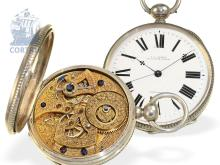 Pocket watch: rarity for Chinese market, 'Chronometer' with special caliber, Charles Edouard Lardet, Fleurier, ca. 1850 (NO LIVE FEE)