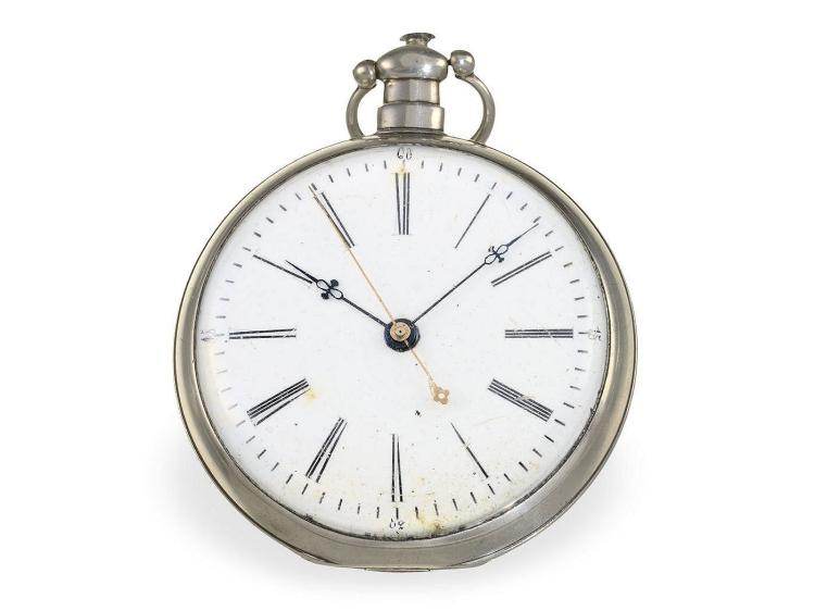 Pocket watch: rare duplex watch for Chinese market, unusual movement, Switzerland ca. 1850 (NO LIVE FEE)