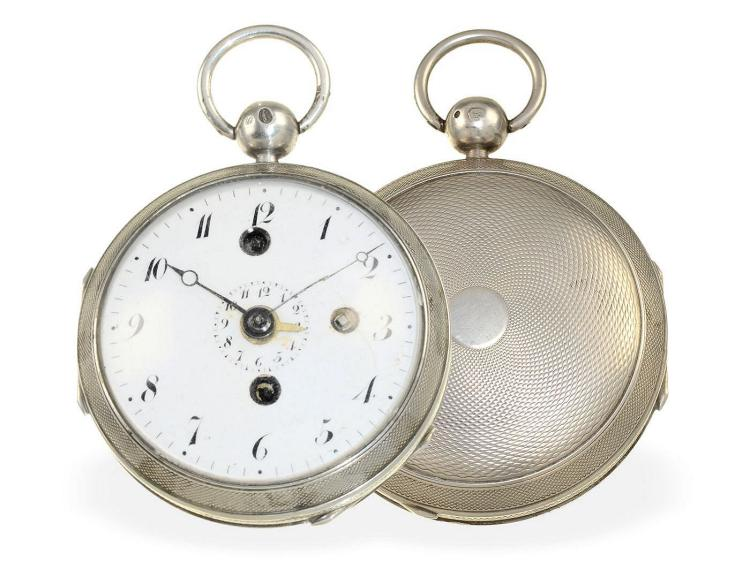 Pocket watch: early verge watch with alarm, Watchmaker of the Court Landry Paris, ca. 1800 (NO LIVE FEE)