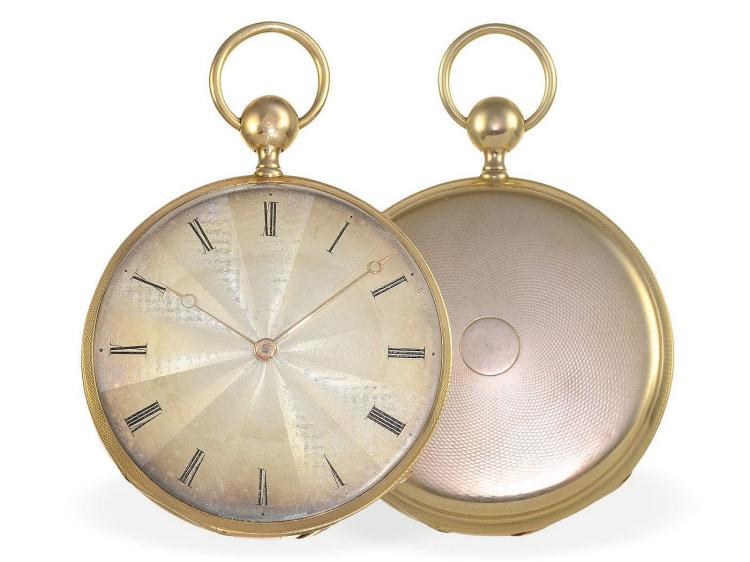 Pocket watch: very fine Parisian Lepine repeater, Parisian gold punch 1819 (NO LIVE FEE)