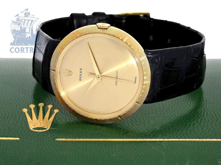 Wristwatch: very rare vintage gentlemen's watch, Rolex Precision cal. 9919, with original box, ca. 1959 (NO LIVE FEE)