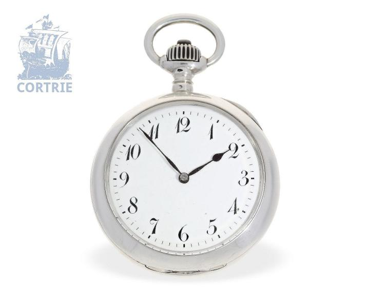 Pocket watch: very fine and extravagant precision pocket watch with rare 5-minute repeater, so-called Trip-Repeater, L. Leroy & Cie., 7 Bd de la Madelaine à Paris, ca. 1890 (NO LIVE FEE)