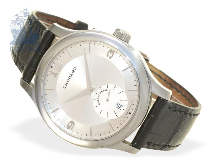 Wristwatch: rare gentlemen's watch, automatic chronometer Chopard Mark III, stainless steel (NO LIVE FEE)