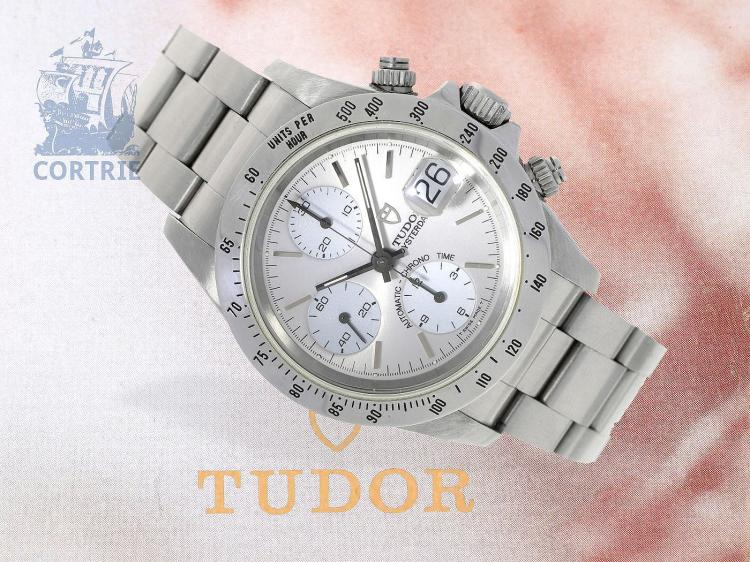 Wristwatch: Tudor Big Block Oysterdate Chronograph Ref.79280 with box and certificates from 1996 (NO LIVE FEE)