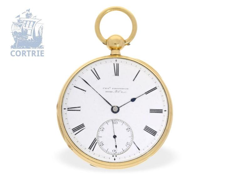 Pocket watch: five English precision watch, Royal watchmaker Charles Frodsham no. 3721, London 1869 (NO LIVE FEE)