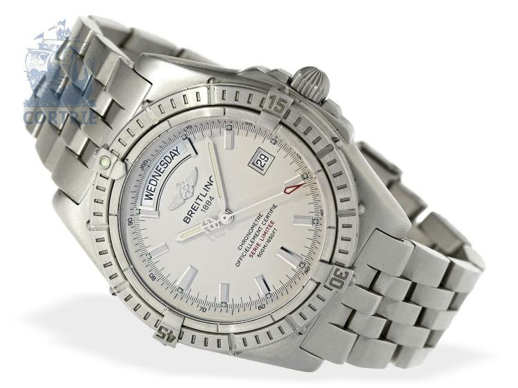Wristwatch: rare and limited gentlemen's watch Breitling Headwind Acier, ref. A 4536008/G525, limited edition 041/100, all certificates and original box (NO LIVE FEE)