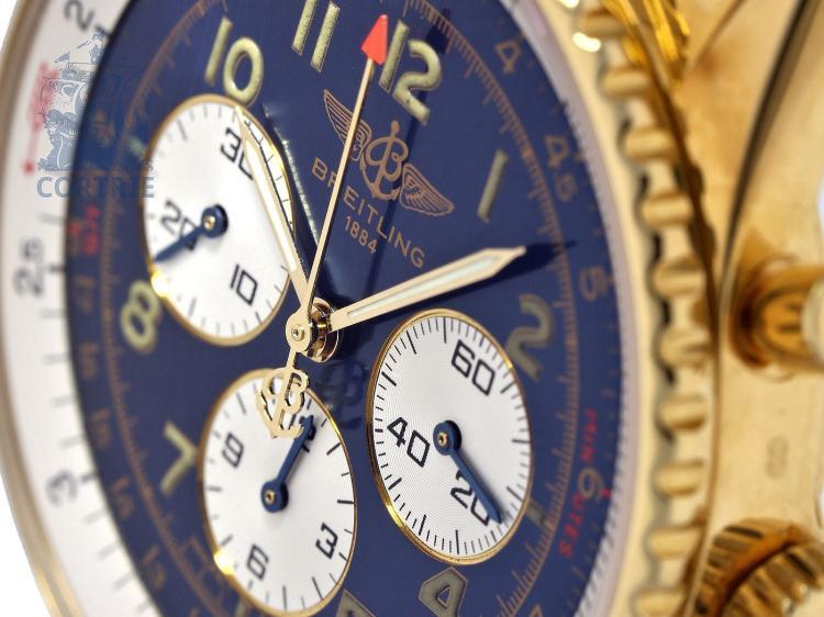 Wristwatch: Breitling Navitimer 92, rare 18K gold edition, with original box (NO LIVE FEE)