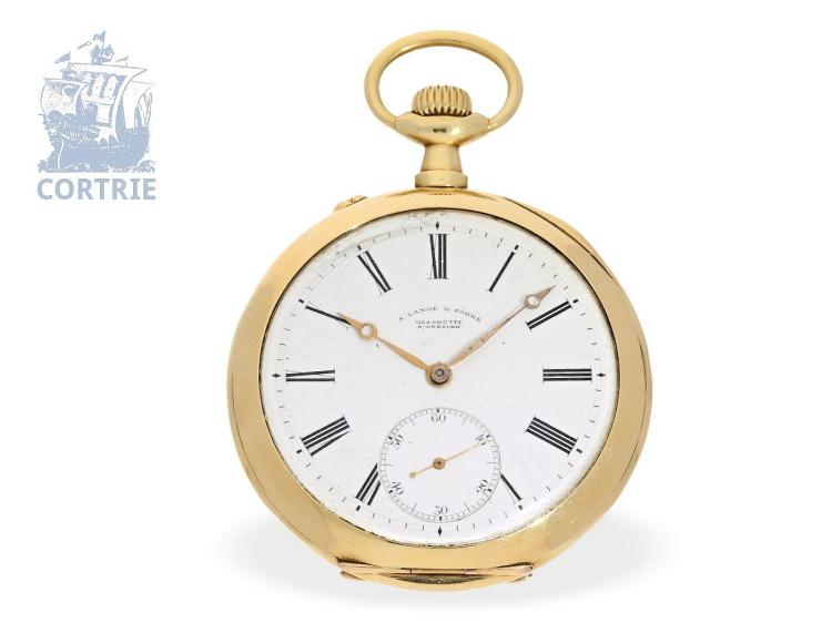 Pocket watch: A.Lange & Söhne Glashütte, quality 1A, delivered to Frederico Krüssmann Rio de Janeiro, 1907 (NO LIVE FEE)