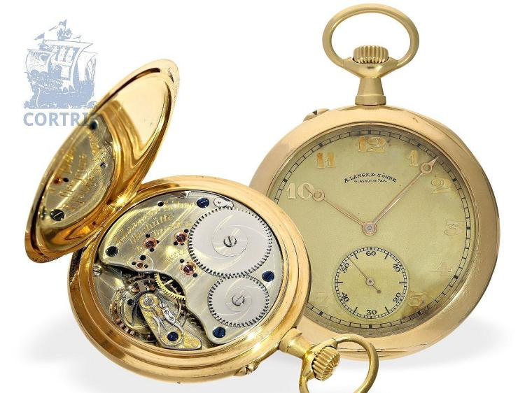 Pocket watch: high-grade A.Lange & Söhne Glashütte gentlemen's watch, quality 1A, Glashütte 1906 (NO LIVE FEE)