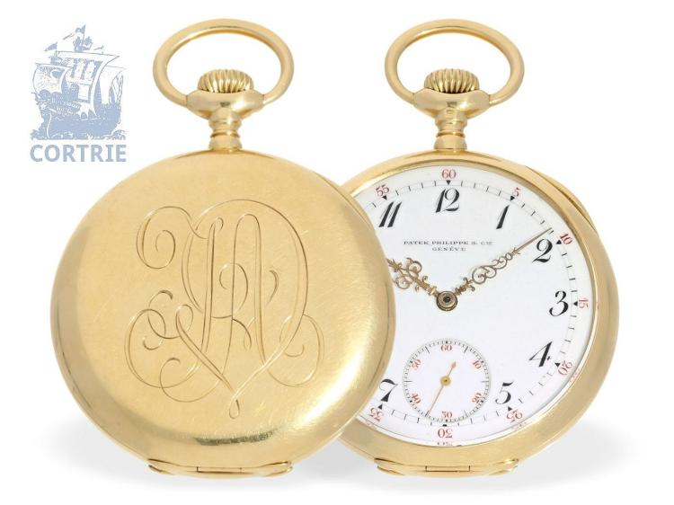 Pocket watch: very fine Patek Philippe Ankerchronometer with rare dial, Geneva 1909 (NO LIVE FEE)