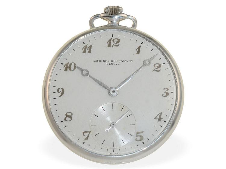 Pocket watch: rarity, Vacheron & Constantin Geneve aluminium dress watch for Canadian Aluminium Limited (1938-1950), 1 of only 271 pieces (NO LIVE FEE)