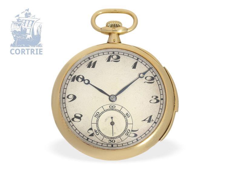 Pocket watch: very fine and rare pocket watch minute repeater, Leroy & Cie, Horlogers de la Marine, 7 Bd. De la Madeleine, Paris ca. 1910 (NO LIVE FEE)