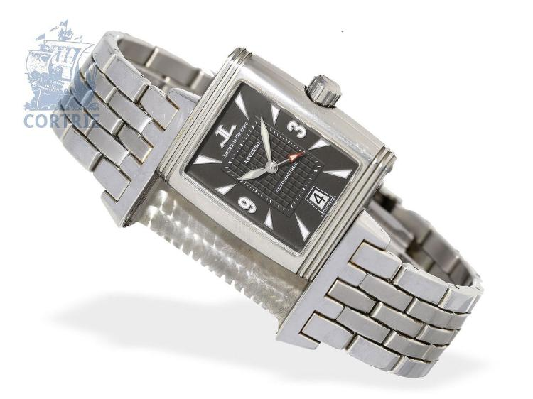 Wristwatch: fine gentlemen's watch Jaeger Le Coultre Reverso 'Grand Sport' reference numeral 290.8.60, stainless steel, with original box (NO LIVE FEE)