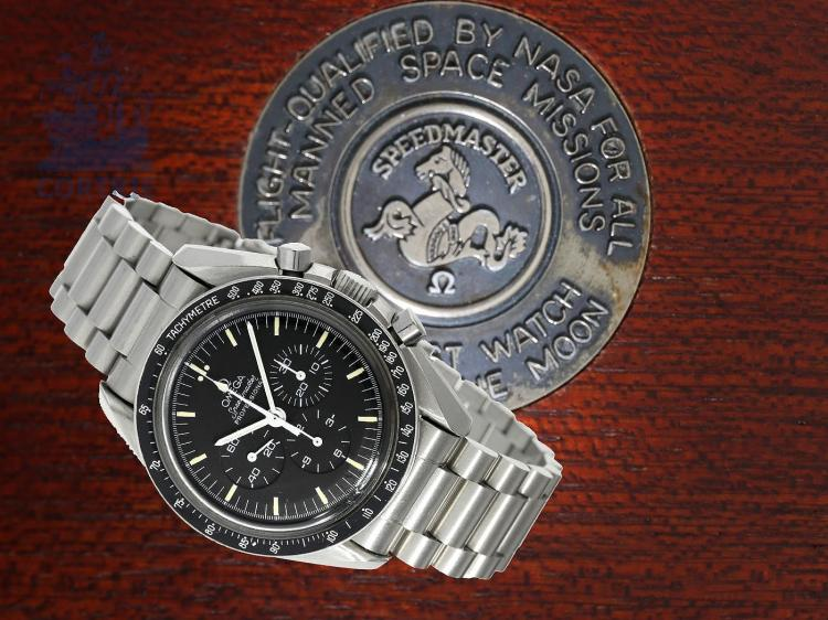 Wristwatch: Omega rarity, Omega Speedmaster Apollo XI '250 Pieces 20 Years Limited Edition' no.032/250 with original box and original certificates (NO LIVE FEE)