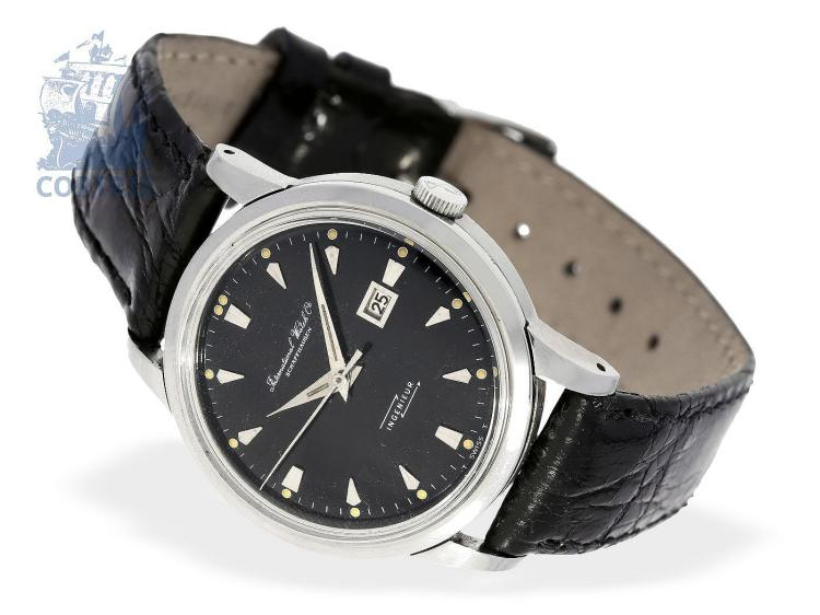 Wristwatch: IWC 'Ingenieur' with black dial, Schaffhausen ca. 1960 (NO LIVE FEE)