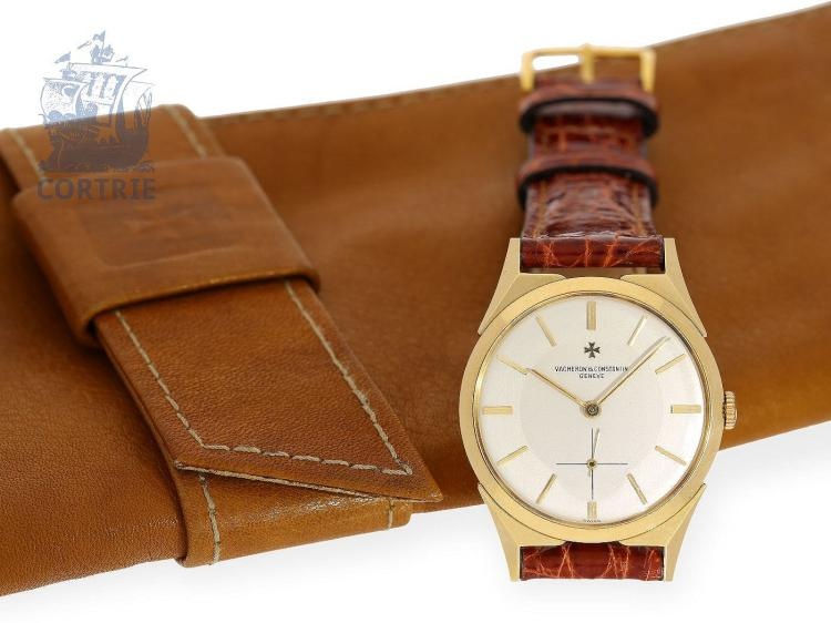 Wristwatch: high-grade and vintage Vacheron & Constantin watch with rare case, Geneva ca. 1955 (NO LIVE FEE)