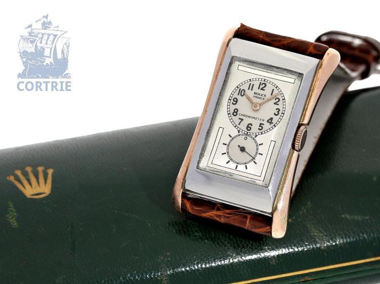 Wristwatch: extremely rare Art Deco Rolex Prince Brancard Observatory Chronometer quality Ultra Prima ref. 971, ca. 1935 (NO LIVE FEE)
