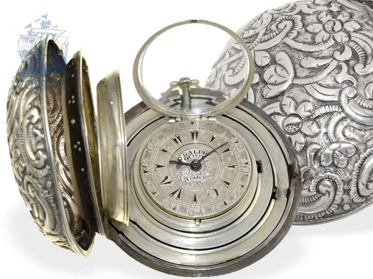 Pocket watch: extravagant coach clock for the Turkish market, excellent condition, Ralph Gout London 1782 (NO LIVE FEE)