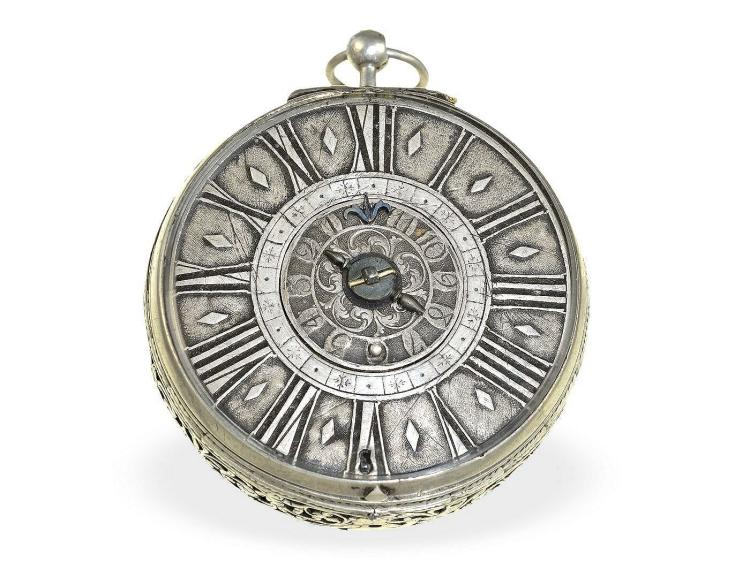 Pocket watch: very early verge watch with alarm, Louis Clauseau a Avignon ca. 1680 (NO LIVE FEE)