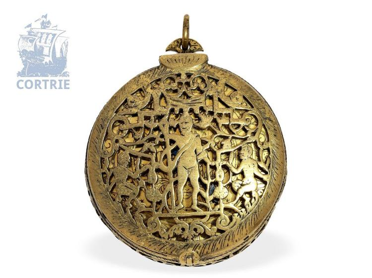 Pocket watch: early box-shaped pendant watch, signed Baltasar Martinot a Paris (1637-1695) (NO LIVE FEE)