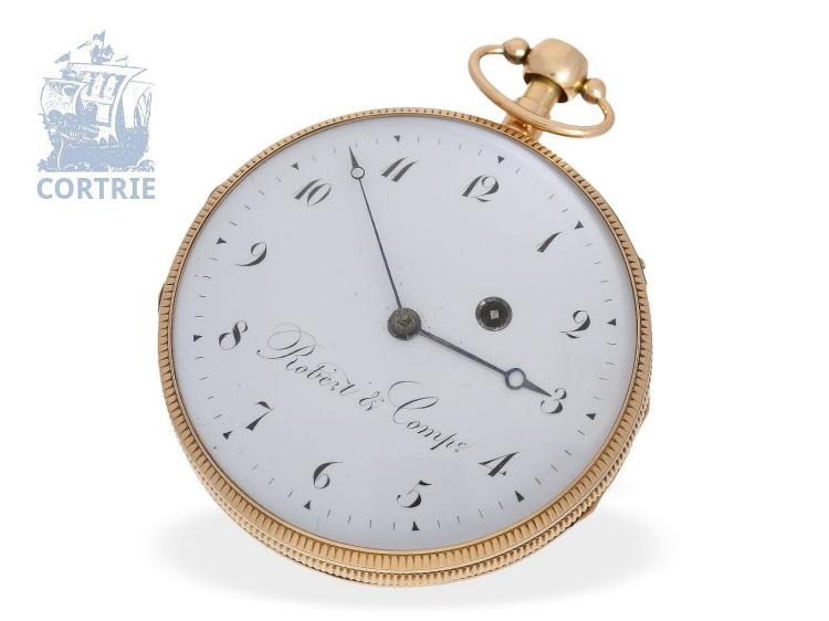 Pocket watch: very fine and big French repeater, excellent condition, Robert & Comp. Paris, ca. 1800 (NO LIVE FEE)