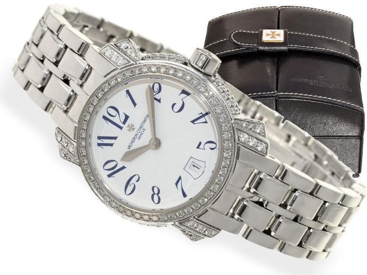 Wristwatch: luxurious ladies watch with diamonds, Vacheron & Constantin Geneve ref. 25716/335G with original box and original certificates, original price ca. 45,000 US$ (NO LIVE FEE)