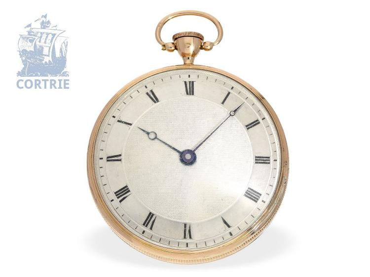 Pocket watch: important Geneva music watch with very rare repeater, Henry Capt Geneve, ca. 1820 (NO LIVE FEE)