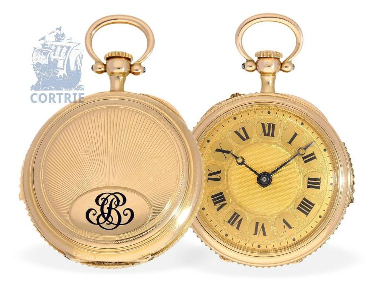 Pocket watch: important and rare miniature pocket watch minute repeater, Leroy & Cie Hger de la Marine Paris/ Louis Elisée Piguet, ca. 1900 (NO LIVE FEE)