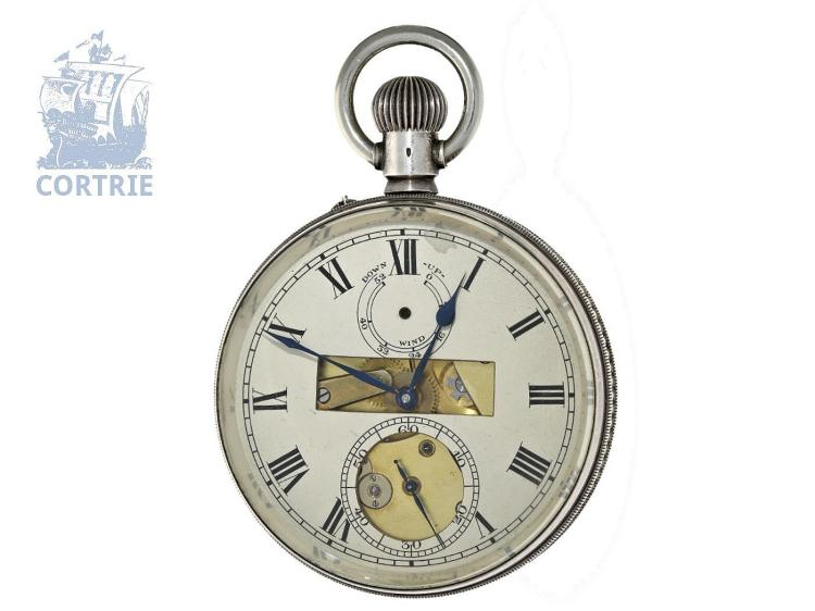 Pocket watch: extremely rare Observatory Chronometer, Paul Ditisheim/Nivarox no.1957, with extract of the Chronometer Archive (NO LIVE FEE)