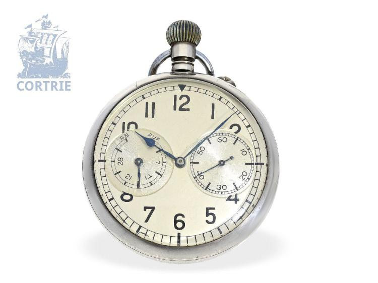 Pocket watch: Marine deck watch of the German Navy, with national emblem, A.Lange & Söhne Glashütte, ca. 1945 (NO LIVE FEE)