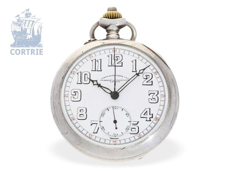 Pocket watch: rare Vacheron & Constantin military chronograph 'VACHERON & CONSTANTIN CORPS OF ENGINEERS USA', Geneva ca. 1920 (NO LIVE FEE)