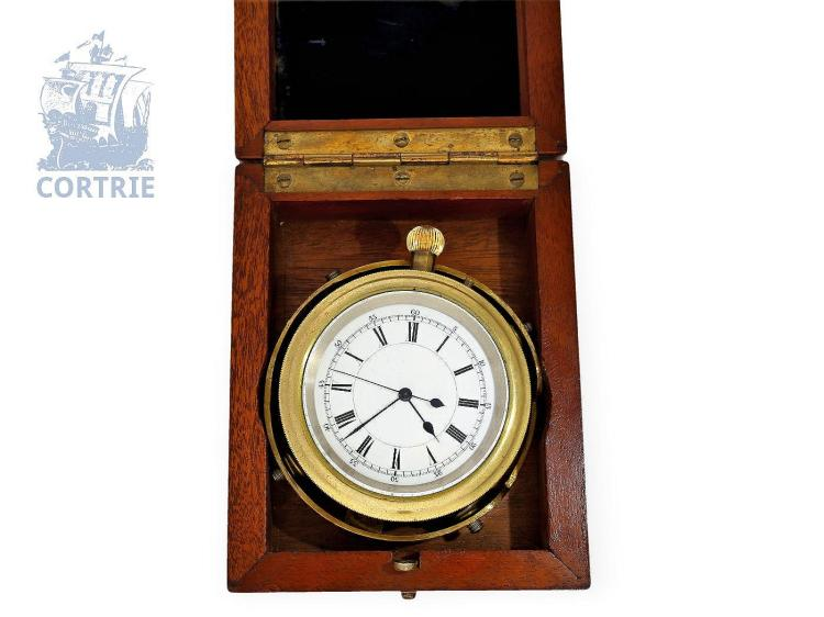 Pocket watch/deck watch: very rare English deck watch chronometer, Royal Geographical Society Watch no. 45, Usher & Cole, Makers to the Admiralty, London no.31481 (NO LIVE FEE)