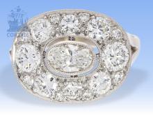 Ring: ehemals sehr teurer und sehr hochwertiger vintage Brillant-Ring, ca. 2ct, Goldschmiedeanfertigung um 1950